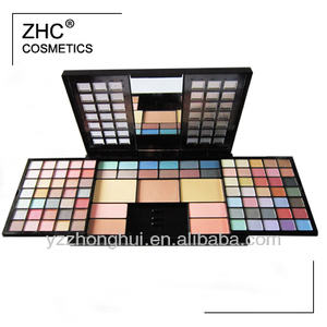 CC30313 Great palette 82 colors eyeshadow 4 colors blusher 3pcs pressed powder