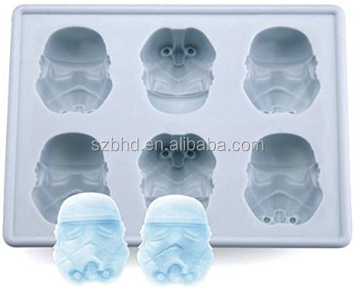 100% FDA Food Grade Storm Trooper Helmet Ice Cube Tray Chocolate Jelly Silicone Mold