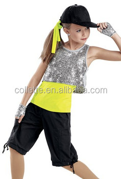 4830f226eafe4 MB2015181 Teen Girls Black lycrial silver sequin top yellow lycrial T-shirt  model new design
