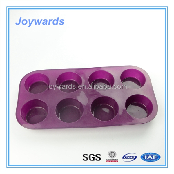2016 Hot selling FDA free 6 cups silicone mini muffin pan/baking mold/baking tray