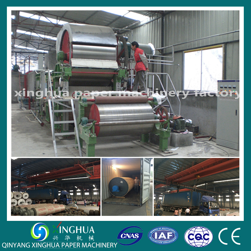2600/250-toilet paper roll making machine with pulp making equipment for waste paper straw and bagasse