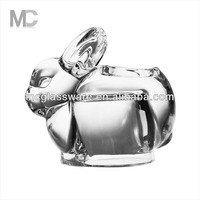 Rabbit Shaped Luxury Tealight Votive Clear Glass Candle Holder