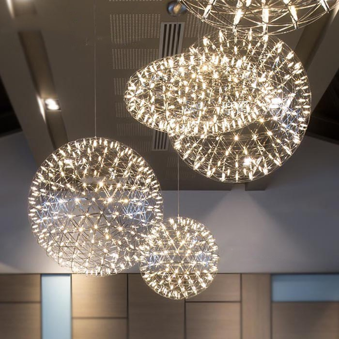 multi led lampen feuerwerk shinning metall dachboden retro kugel schatten kronleuchter industrie. Black Bedroom Furniture Sets. Home Design Ideas