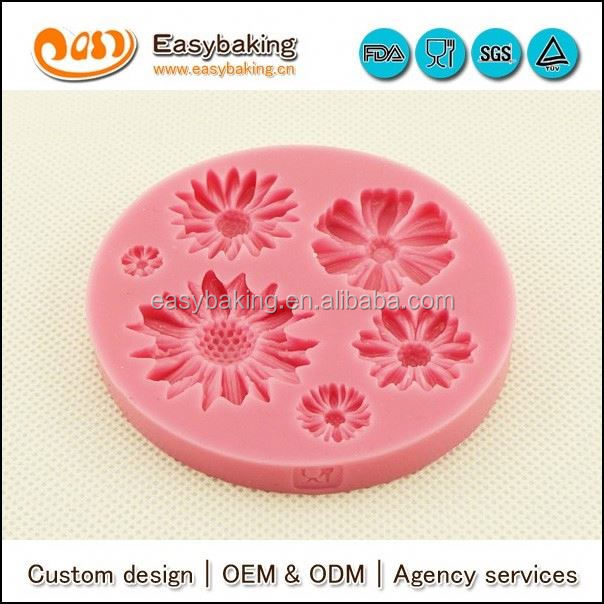 Factory Supply Flowers Shape Custom Silicone Mold For Fondant
