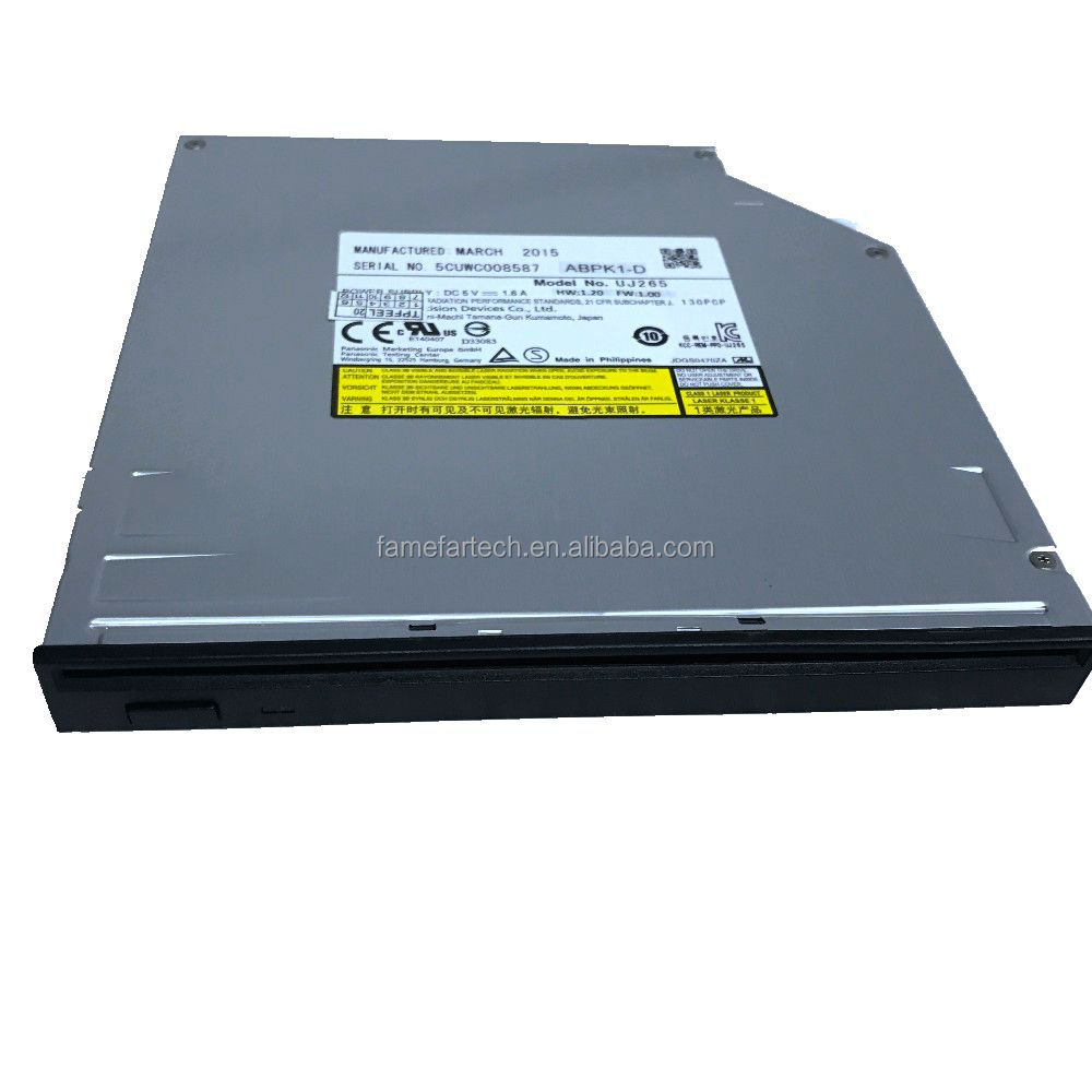 new laptop sata interface 12.7mm uj265 cd dvd 6x blu-ray burner drive