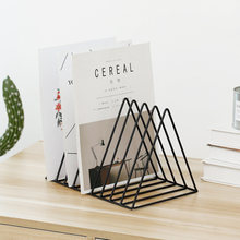 Треугольный органайзер, держатель для книжных полок, Проволочная коллекция, железная стойка для хранения, книжный журнал для офиса, домашне...(Китай)