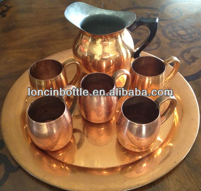 bpa free Copper Moscow Mule Mugs,Copper Mugs set for Moscow Mule and Vodka, copper thermal travel coffee cup