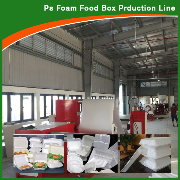 Reasonable polystyrene take away food box making machine