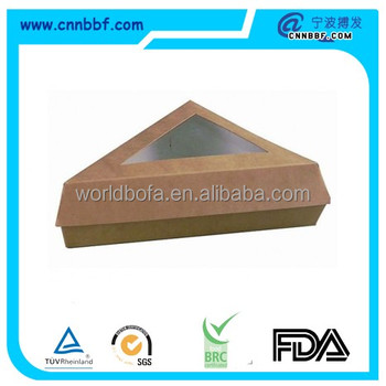 Disposable take away food box paper pie box with window