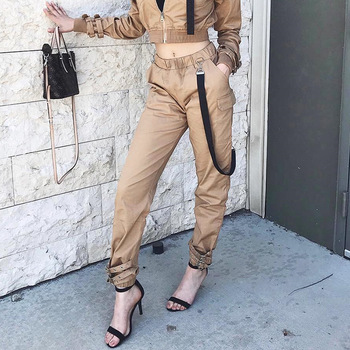 A0602t New Hot Wholesale Casual Cargo Overall Loose City Street Trends Women's Pants Buy Womens Baggy Cargo Pants,Designer Cargo Pants,Casual Loose