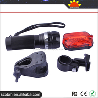 Hot New products for 2015 BAILONG Q5 LED 150Lm LED Flashligth Torch+7 Mode Red Llight LED Bicycle Safety Tail Light
