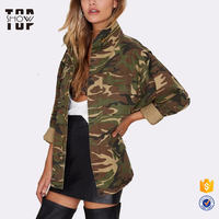 Audited factory custom army jacket oversized army jacket women
