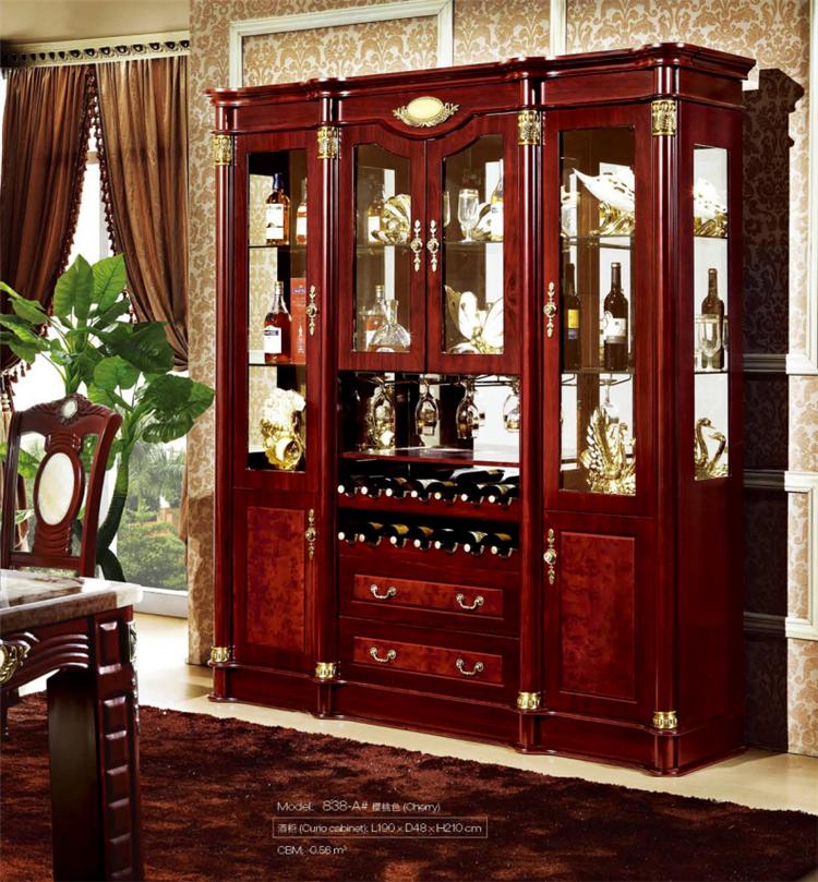Casa antigua de whisky vino vitrina de vidrio sala de for Vitrinas y aparadores de comedor