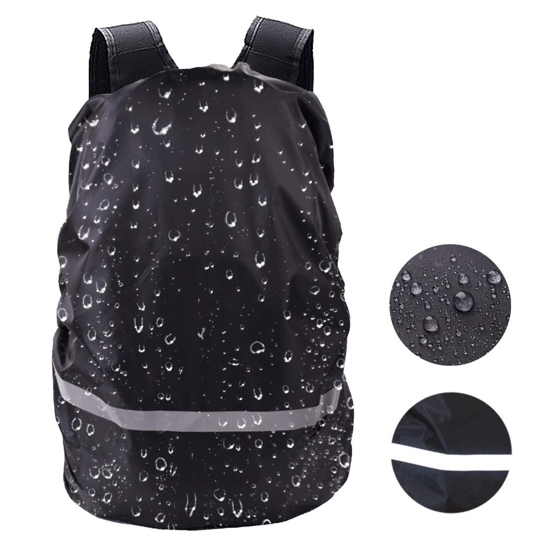 Get Quotations · RoseLily Reflective Waterproof Backpack Rain Cover  (18-70L) High Visible Protector Hiking b7cf69eb6f