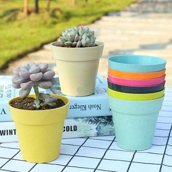 Safety New Bamboo Plant Pots Eco Friendly Fibre Flower Pot Holder
