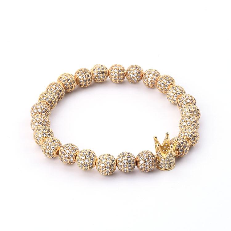 Fashion Micro Pave Zircon Ball Bracelet Zircon Accessories Jewelry