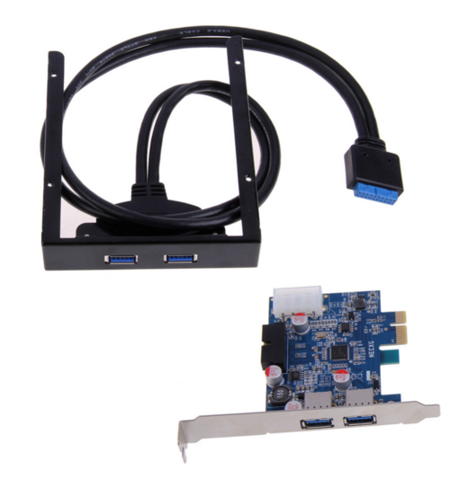 2 Port USB 3.0 PCI Express Card+3.5 Motherboard Floppy Disk Bay Front Panel For Windows XP/Vista/Windows 7