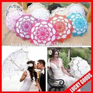 wedding souvenir or gift parasol lace umbrella for sale