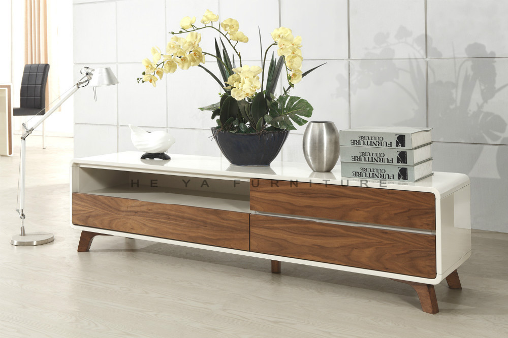 New Design Living Room Furniture New Model Wooden Tv Stand