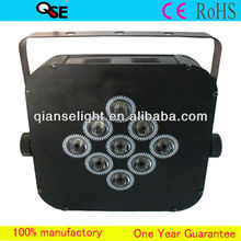 New Hot!!! Professional Stage Light 9*3W RGB 3-in-1 Flat LED Par