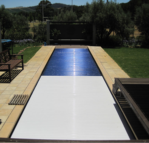 automatic hard plastic swimming pool cover with 12V motor