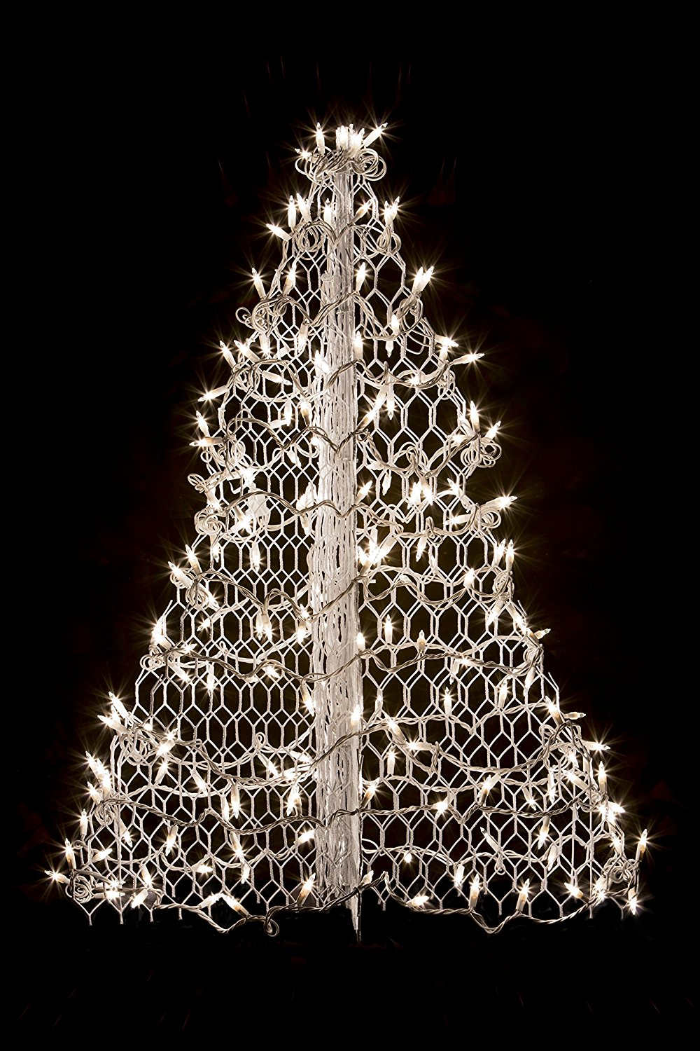 3' Crab Pot Christmas Tree with White Wire and 160 Clear LED Lights