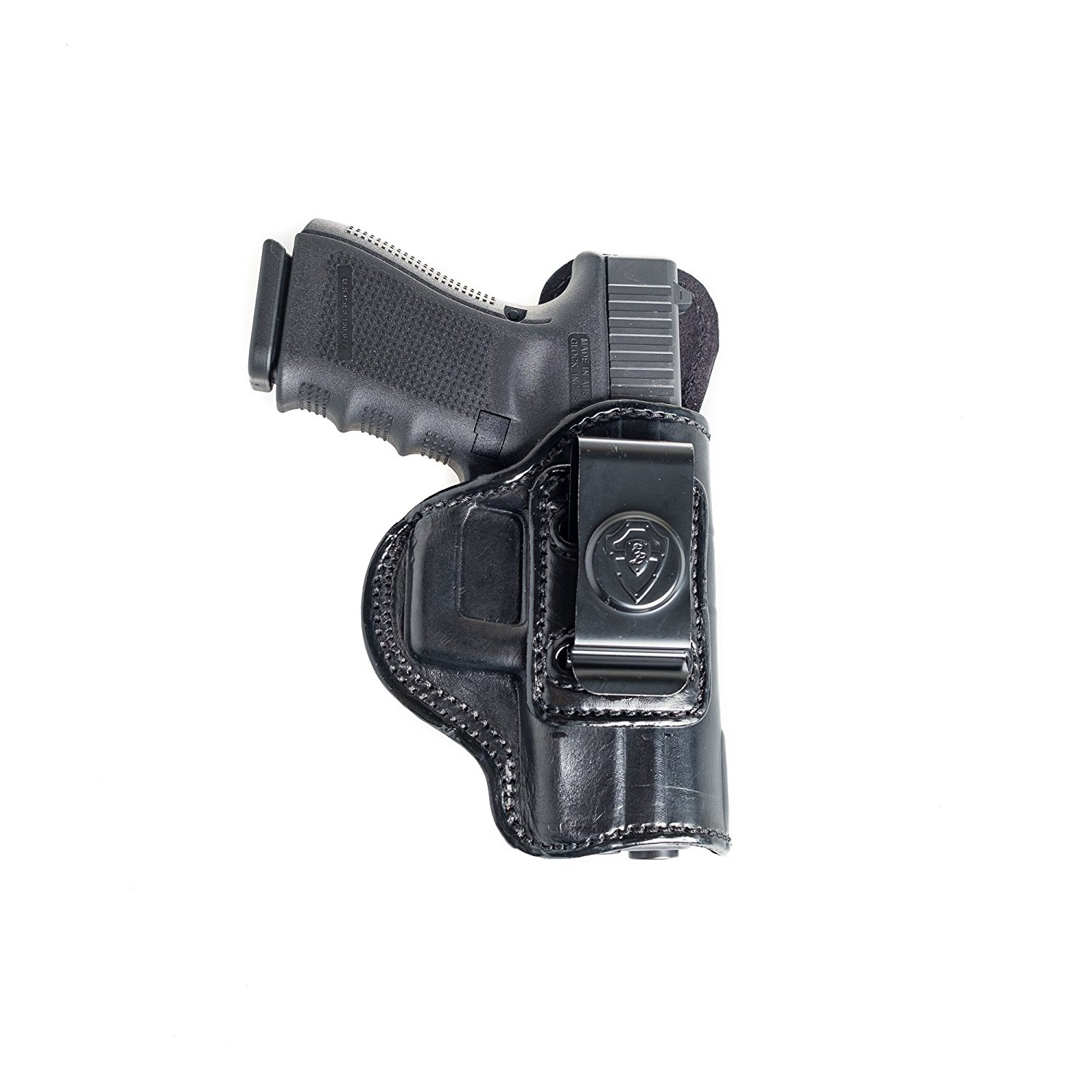 Inside The Waistband Leather Holster For CZ 75C, P-09, 75, 85, SP 01, 97, 97B. IWB Holster with Clip Conceal Carry.
