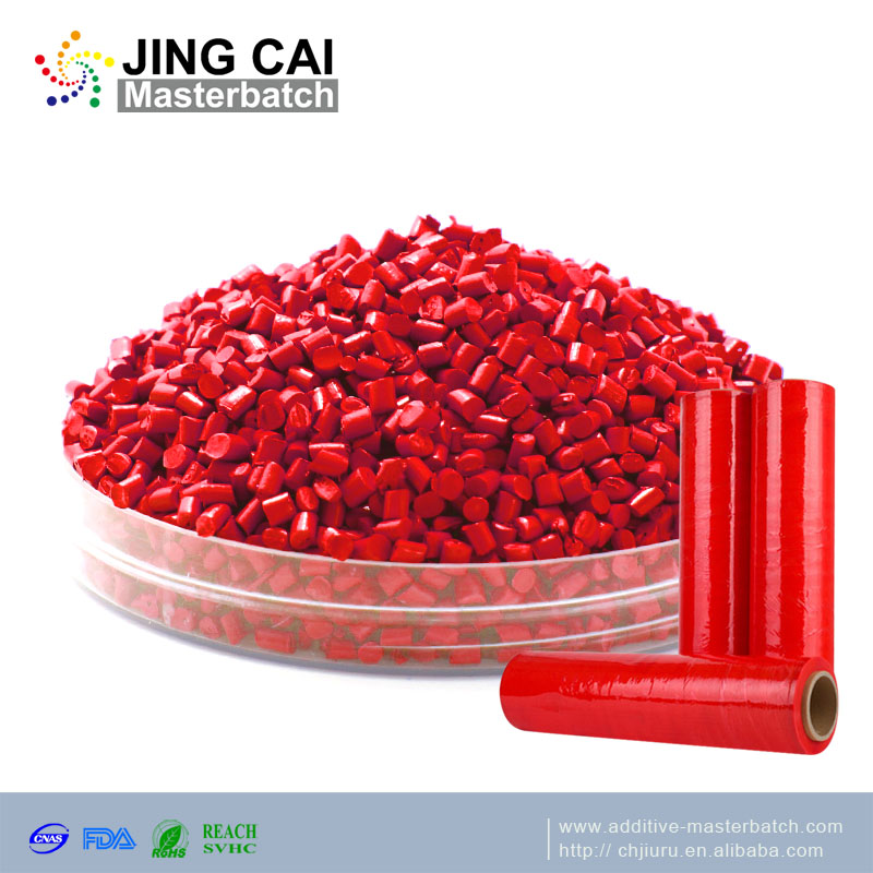 Blowing film stretch plastic color <strong>PE</strong> PP PET red masterbatch