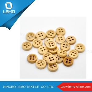 Natural Light Brown Small Wood Buttons