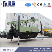 hydraulic leg! HF300Y crawler type powerful irrigation well drilling rig