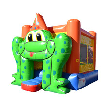 Frog theme cheap bounce houses,inflatable moon jump W1112