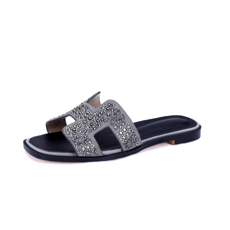 sandals ladies shoes and latest flat slippers heel sandal high Rhinestones Beach slippers ladies aO4qWn