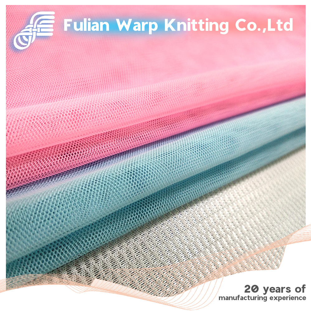 High quality 100% polyester warp knitting mesh fabric for mosquito net,dress
