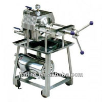 Stainless steel plate frame type filter press