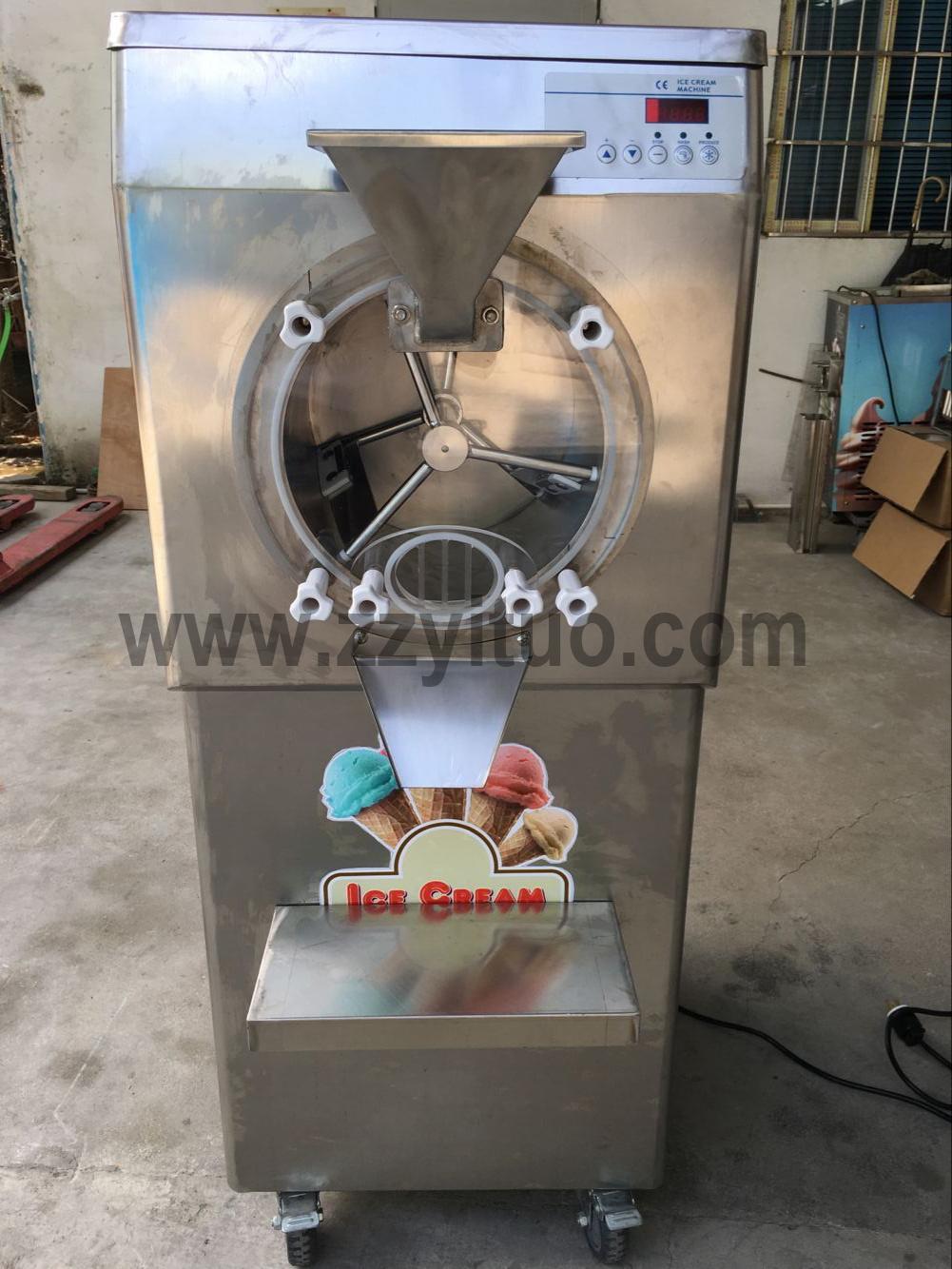 Venta caliente 28-35L/H uso comercial de acero inoxidable helado duro fabricante de helado