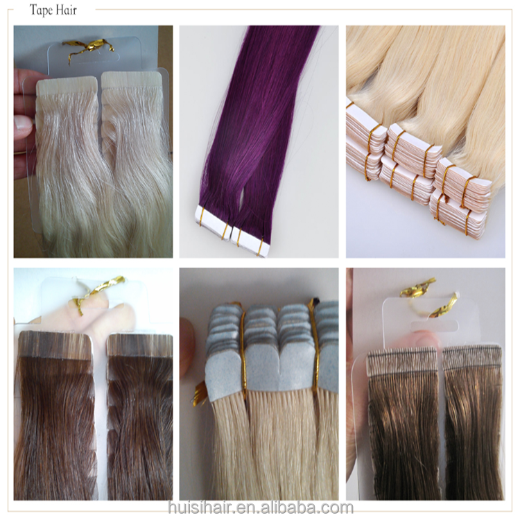 Alibaba shopping 40 pieces/set under water adhesive tapes hair human hair color swatches for tape hair
