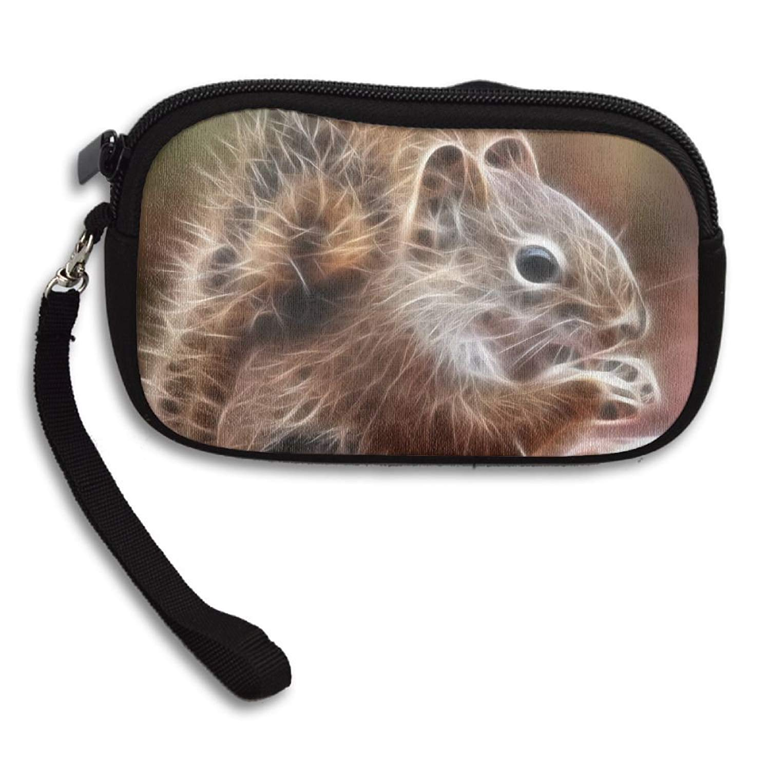 484197bd4f Get Quotations · Squirrel Futuristic Graphics Deluxe Printing Small Purse  Portable Receiving Bag