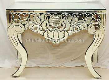Venetian Mirrored Furniture Console Lobby Table
