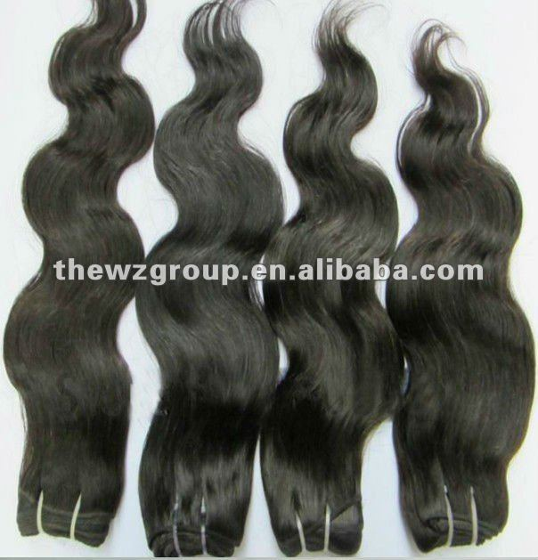 100% full cuticle non processed virgin brazilian hair weaves