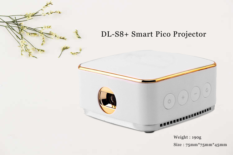 China 3D proyector DL-S8 micro proyector BT4.1 Android 5.1 proyector de vídeo digital