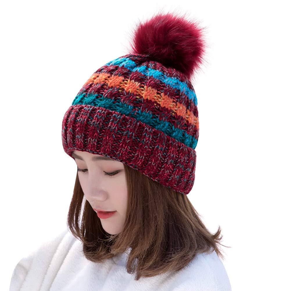LLmoway Women Men Slouchy Beanie Velvet Skull Cap Stretchy Open Top Winter Hat