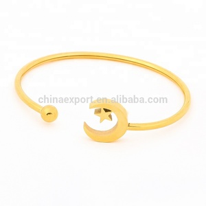 2018 wholesale ladies cuff open gold bangles models