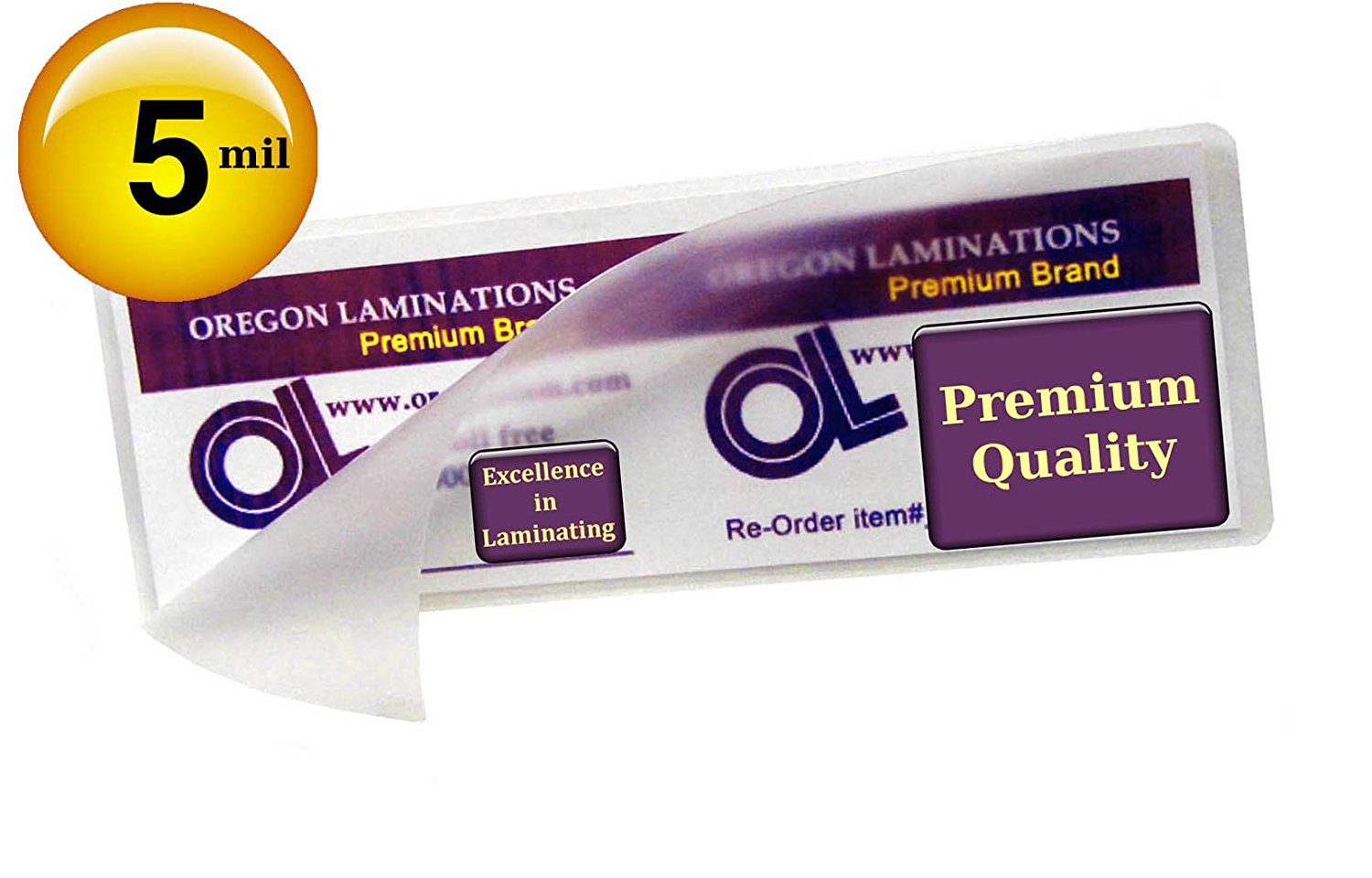 Binders & Binding Systems Qty 1000 OLP 3 Mil Letter Laminating Pouches 9 x 11-1/2 Hot Laminator Sleeves