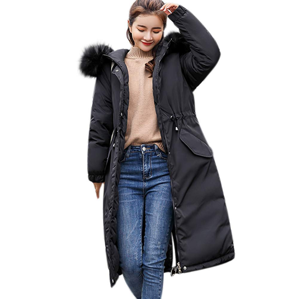 Anboo Winter Coat for Women,Women Solid Thicker Winter Slim Warm Lammy Jacket Hair Collar Coat Overcoat Bf Style Oversized Jacket Coat Hoodied Coat