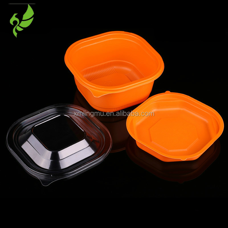 2016 Hot Sale Rectangle Disposable Plastic Container for nano-love 500Gram