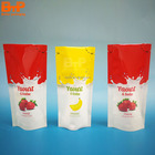 printed doypack packing pouch for milk soymilk liquid packaging