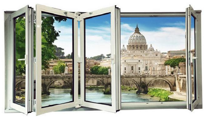 Vente chaude en aluminium accord on windows pliant - Porte fenetre accordeon prix ...