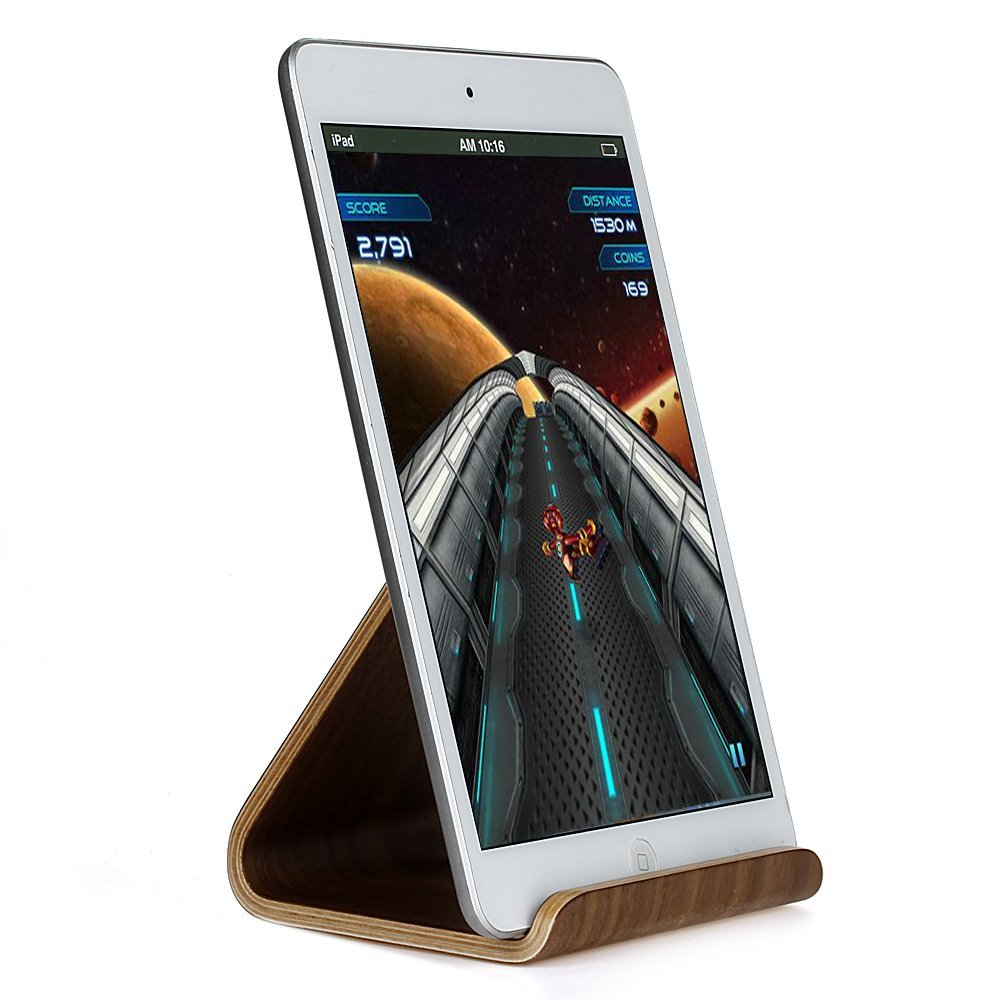 CoCo@ Samdi New Wooden Tablet Stand, Premium Hard Natural Wood Stand Holder for iPad Mini, iPad Air / iPad Air 2, iPad Pro, Tab 2/3/4/note 10.1, Google Nexus 7/9/10, Kindle Fire and Most Other Tablets