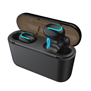 ebay hot selling wireless tws 5.0 earbuds mini  Q32 with 1500mAh power bank function