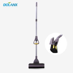 dolanx floor cleaning mop with telescope handle and plastic brush